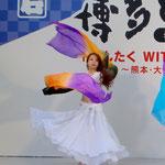 【シェヘラザード どんたく 岩田屋ステージ】reika(レイカ) yukari(ユカリ) ファンベール3