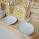 神棚板(横55cmx奥35cm)+神具セット(中)