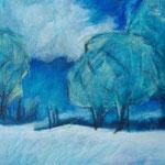 2011_Gabi_Schmalfeld_blaue Bäume