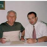 Augustin Streyczek mit Franz Michael Zagler