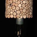 Holzscheiben Zylinderleuchte