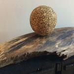 Holzscheiben Kugelleuchte