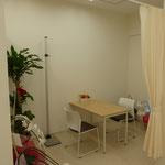 隔離室です。発熱症状などの患者さんに利用していただいています。