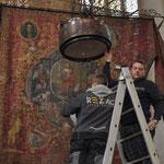 Arbeiten in der Pfarrkirche St. Othmar