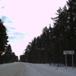 Въезд в Моторное со стороны Приозерской трассы. Садоводство - дальше, в направлении Ладоги