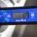 機器設置後の同じ水道水の数値。0ppm。