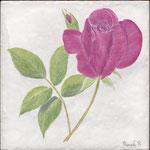 Rose sur carrelage-Atelier Pascale B.-Pascale Stella Brigand