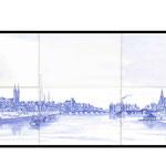 Reproduction d'une gravure militaire d'Angers
