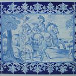 Reproduction d'une fresque sur faïence-Atelier Pascale B.-Pascale Stella Brigand
