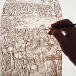 Grisaille sur verre-Atelier Pascale B.-Pascale Stella Brigand