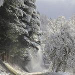 Bei schönem Wetter ist es mit Schnee richtig herrlich
