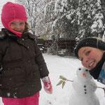 unser allererster Schneemann!