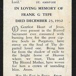 Tepe, Frank G.- 1932