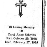 Schmitt, Carol Anne - 1939