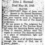 Herman, John J. - 1945