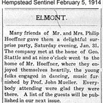 Hempstead Sentinel - Mr. & Mrs. Phillip Hoeffner - Feb. 5, 1914