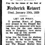 Reisert, Frederick - 1929