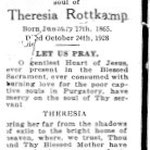Rottkamp, Theresia  - 1928