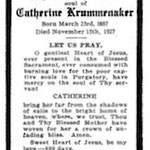 Krummenacker, Catherine - 1927