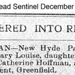 Hempstead Sentinel - Mary Louise Hoffman - Dec. 26, 1912