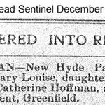 Hempstead Sentinel - Mary Louise Hoffman - Dec. 26, 1912