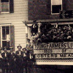 Young Farmers Light Guard float in front of Herman Hotel - 1913