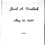 Froehlich, Jacob A. - 1987