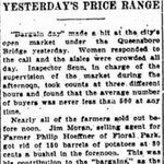 "New York Sun - ""Bargain Day"" Draws Big Market Crowd - Oct. 18, 1914"