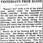 "New York Sun - ""Bargain Day"" Draws Big Market Crowd - Oct. 18, 1914"