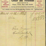 Geo Roeckel Grocer and Seedsman - Receipt to Henry Stattel - 1907
