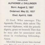 Dallinger, Rev. Alphonse J. - 1989