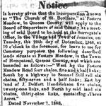 Queens County Sentinel - St. Boniface Cemetery  - Nov, 12, 1868