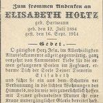Holtz, Elisabeth - 1914