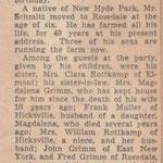 Source Unknown - Albert Schmitt Celebrates 75th Birthday April 6, 1938