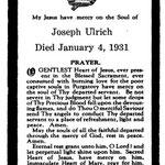 Ulrich, Joseph - 1931