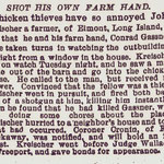 New York Times - Shot His Own Farm Hand - March 11, 1886