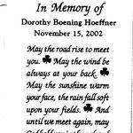 Hoeffner, Dorothy Boening - 2002
