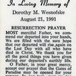 Wesnofske, Dorothy M. - 1991