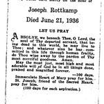 Rottkamp, Joseph - 1936