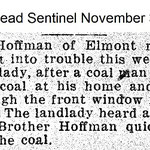 Hempstead Sentinel - Mr. Hoffman Elmont Road - Nov 3, 1921
