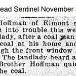 Hempstead Sentinel - Mr. Hoffman Elmont Road - Nov 3, 1921