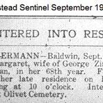 Hempstead Sentinel - Margaret Zimmer - Sept. 19, 1912