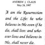 Claus, Andrew J. - 1997