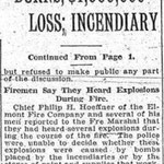 Brooklyn Daily Eagle - Belmont Track Burns: $1,000,000 Loss: Incendiary - April 7, 1917