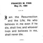 Finn, Frances M. - 1984
