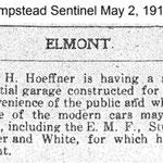 Hempstead Sentinel - Hoeffner Garage - May 12, 1912