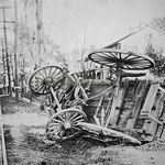 Over turned wagon, Hempstead Turnpike - Elmont