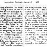 Hempstead Sentinel - Nellie Voss Saving children - Jan. 31, 1907