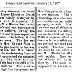 Hempstead Sentinel - Nellie Voss Saving children - Jan. 31, 1907