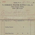 Jamaica Water Supply Company - 2 taps - North Merrick Rd, and Fosters Meadow Rd, Rosedale - Sept. 29, 1929